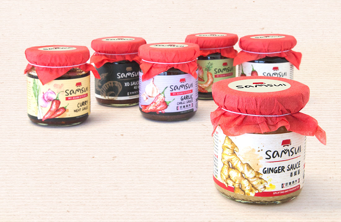 Samsui Sauces Packaging - Singapore