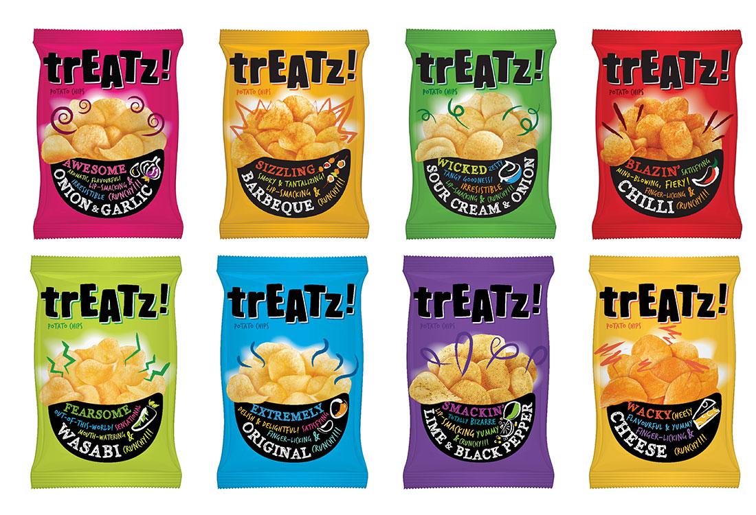 Treatz Potato Chips Packaging - Singapore